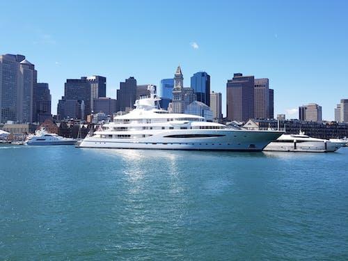 Ingyenes stockfotó csónakok, dokkolt, ég, építészet témában