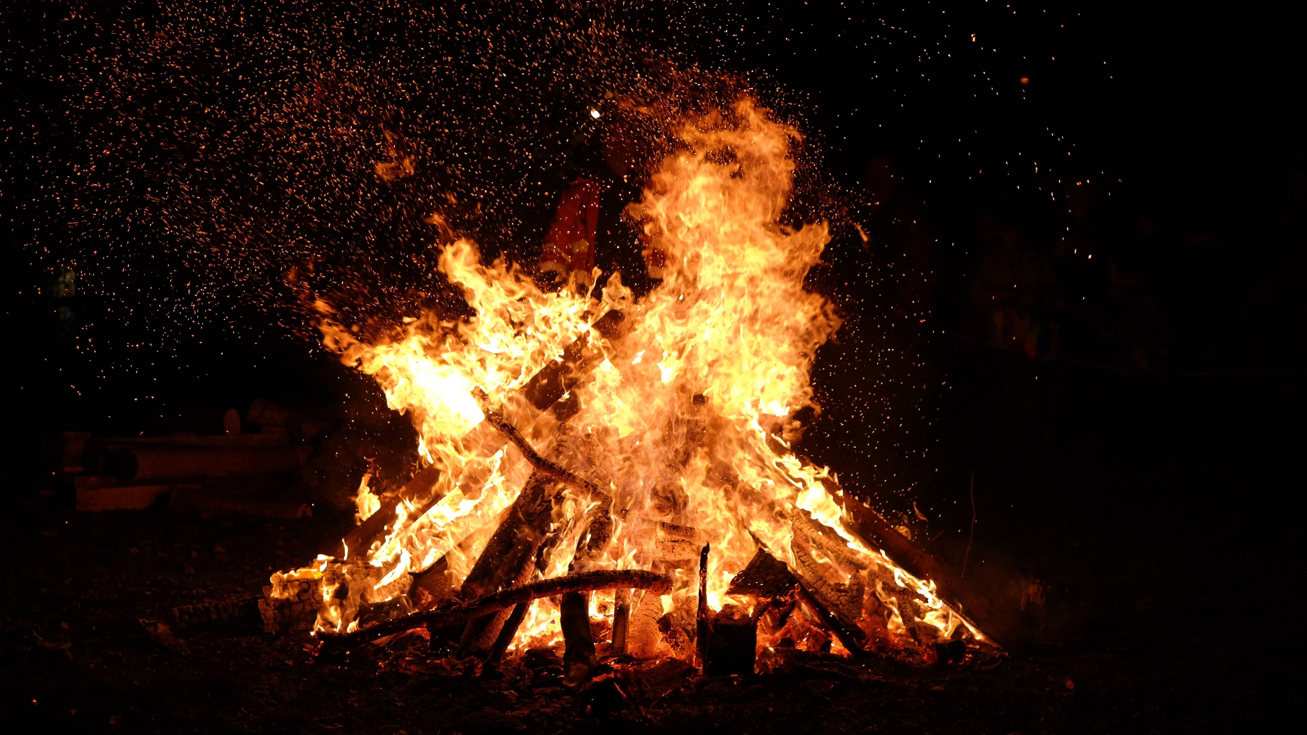 คลังภาพถ่ายฟรี ของ กลางคืน, การเผาไหม้, ความร้อน, มืด