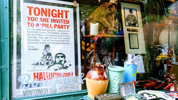 Tonight Poster on Glass Window