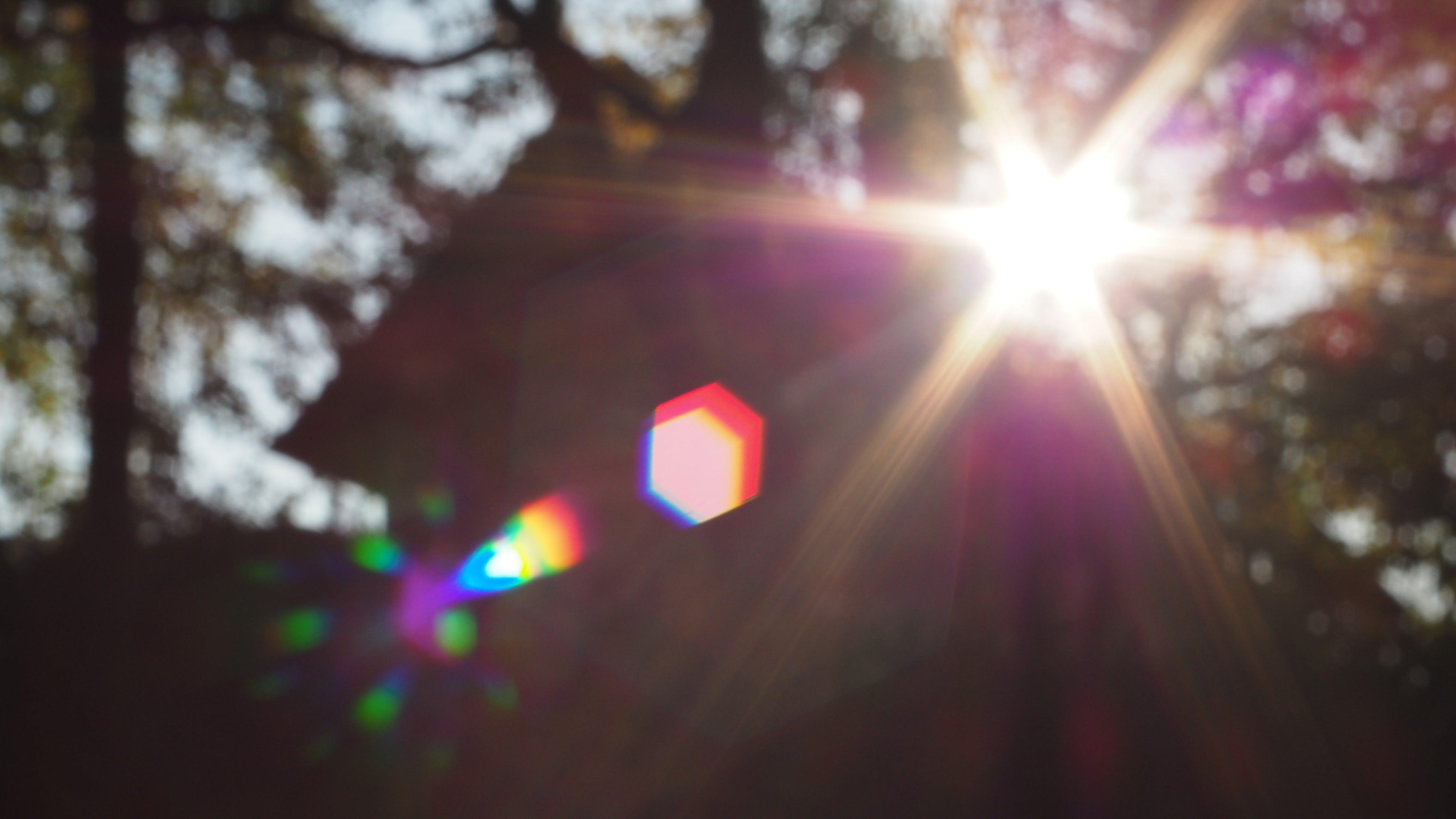 Free stock photo of flare, lens flare, solar flare