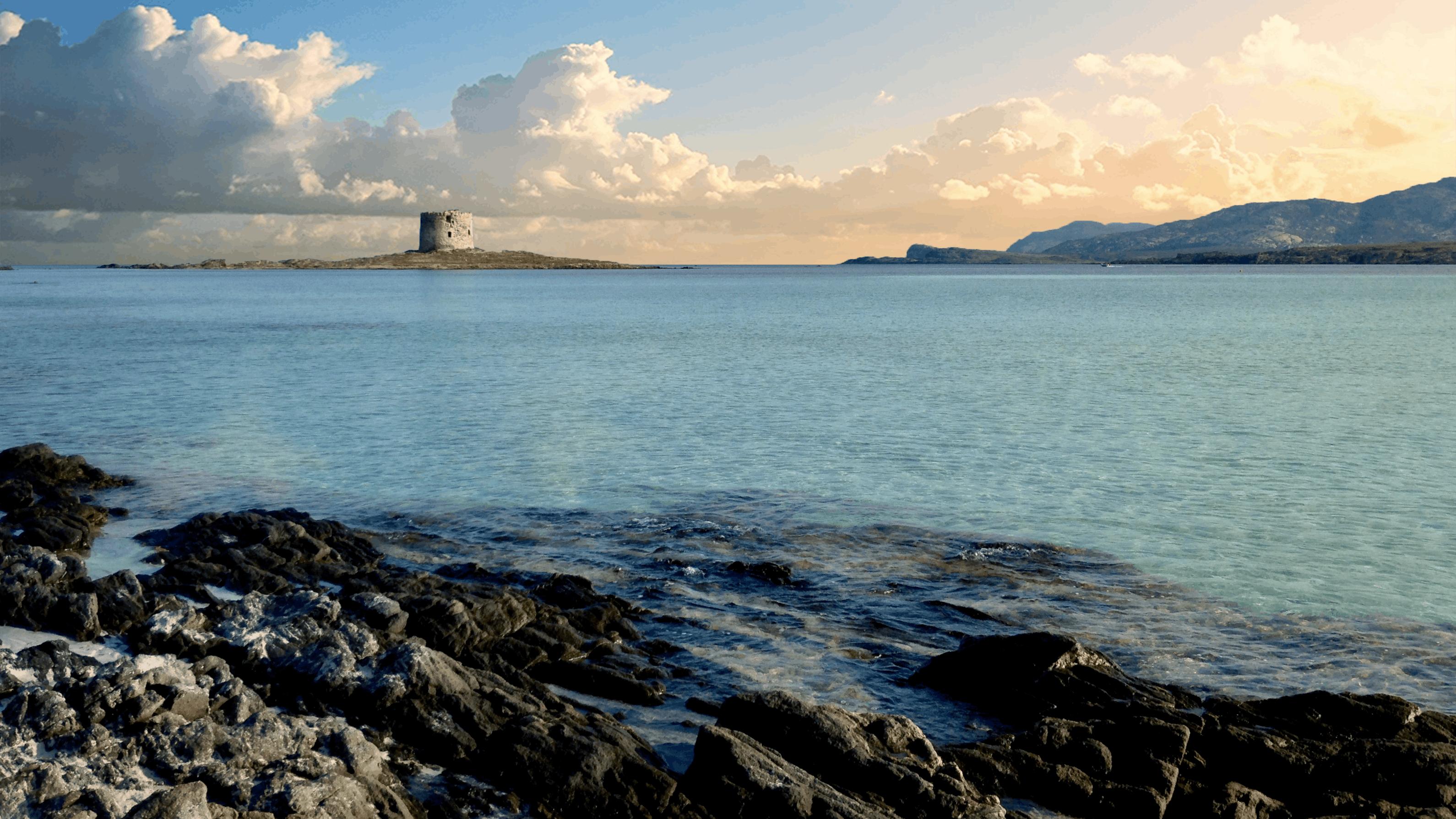 Foto d'estoc gratuïta de aigua, castell, cel, horitzó