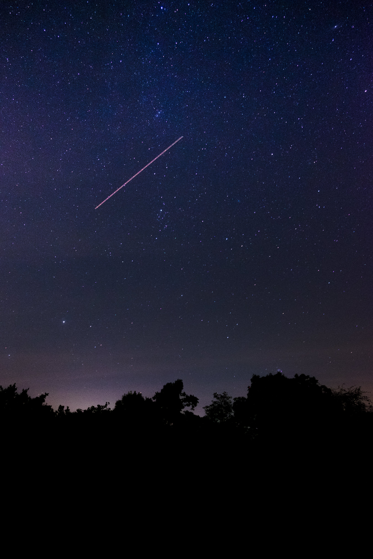 Shooting Star during Nighttime