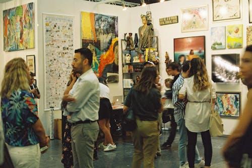 People inside an Art Gallery