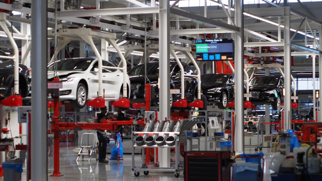 Free stock photo of car brand, factory, tesla