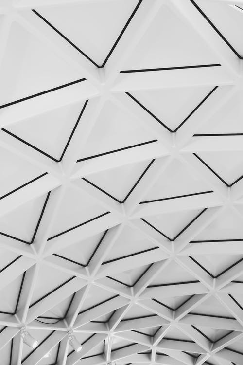 αρχιτεκτονική, ασπρόμαυρο, γεωμετρικός