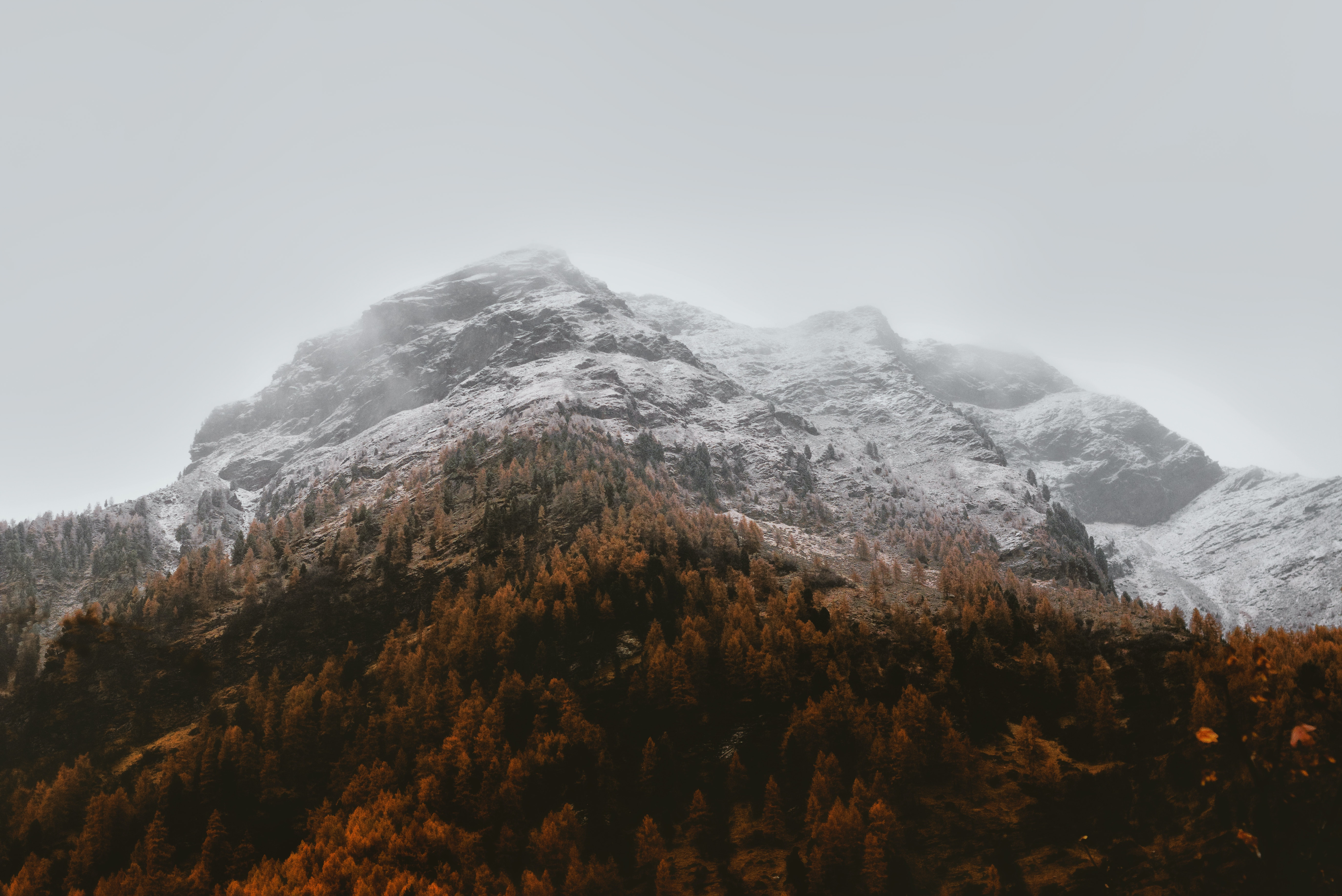 Aerial Photography Of Cloudy Mountain 183 Free Stock Photo