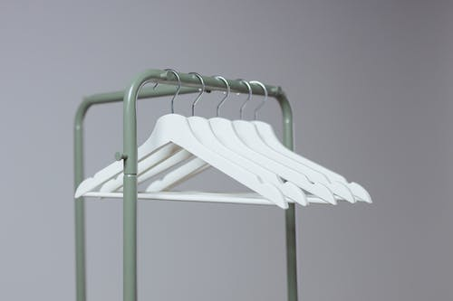 A Clothes Rack with Hangers