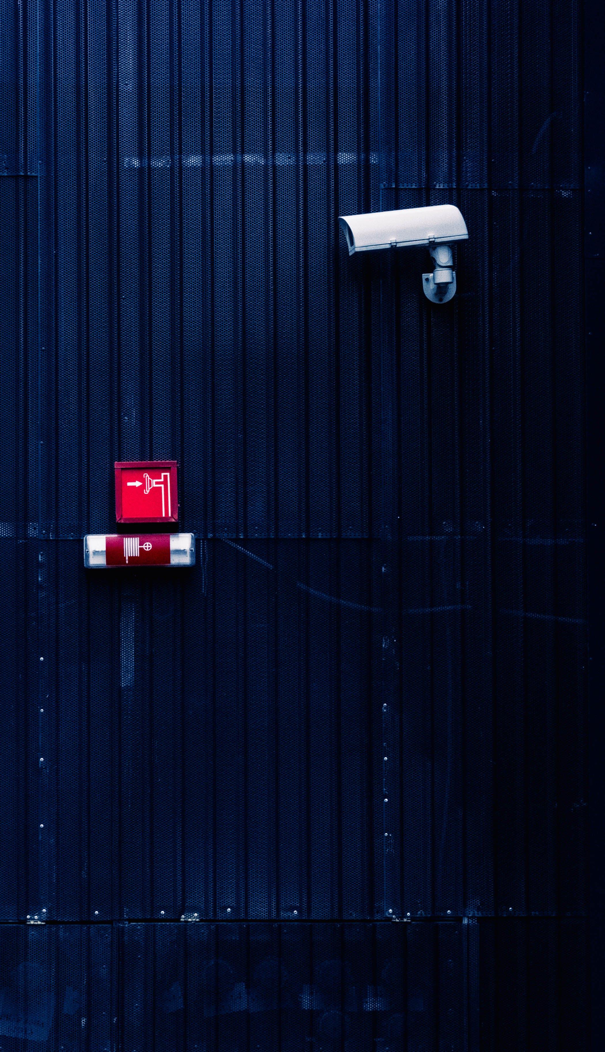 çizgiler, duvar, elektronik ekipman, güvenlik kamerası içeren Ücretsiz stok fotoğraf
