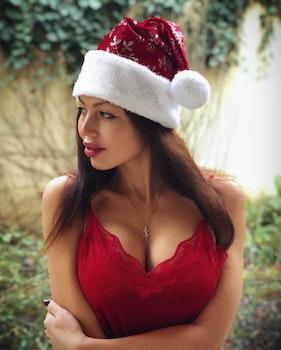 Photography of Woman Wearing Santa Hat