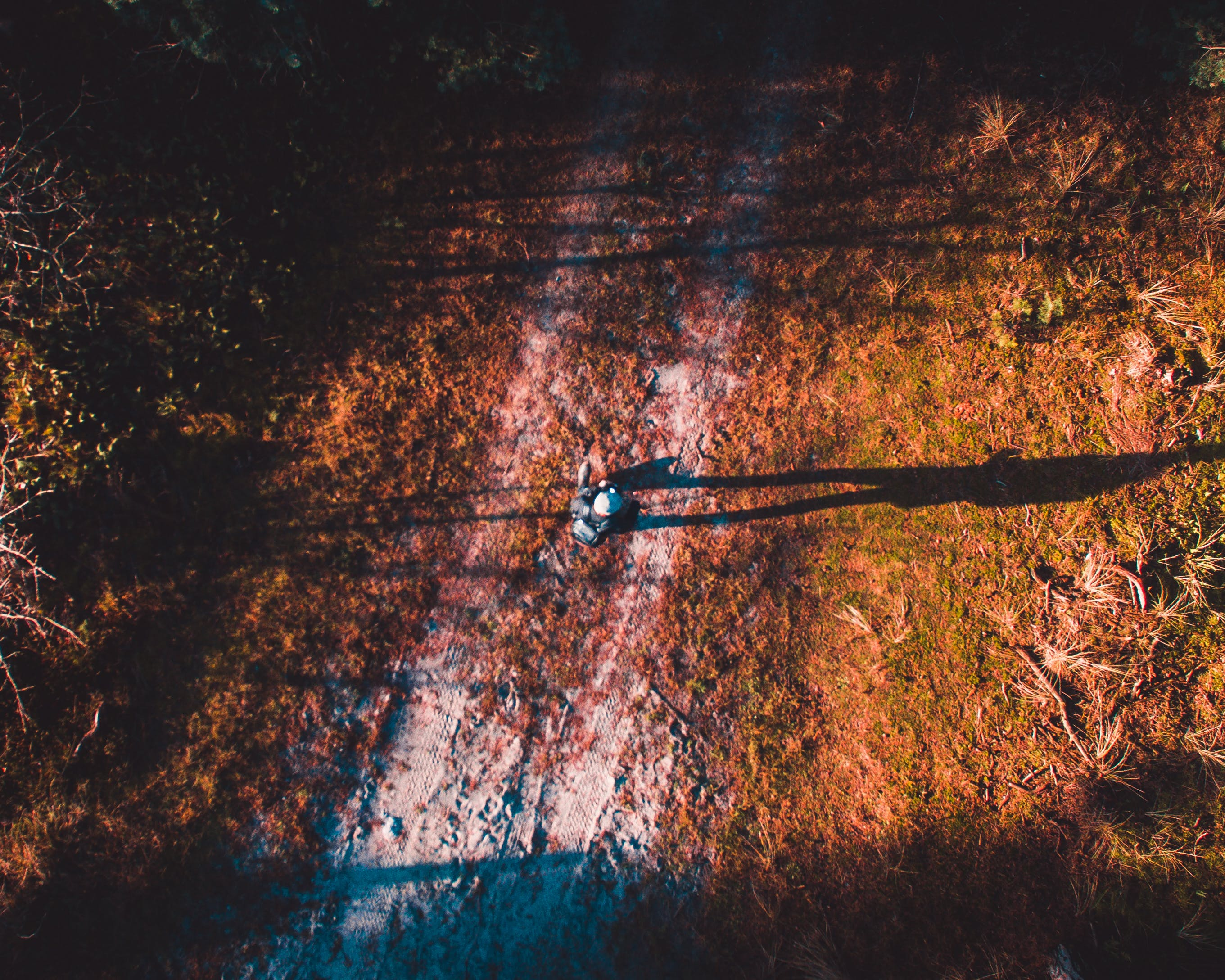 Free stock photo of 2D, dirt road, dirtroad, drone