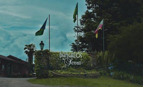 Ingyenes stockfotó bangalos da szerra, bejárat, fák, felhők témában