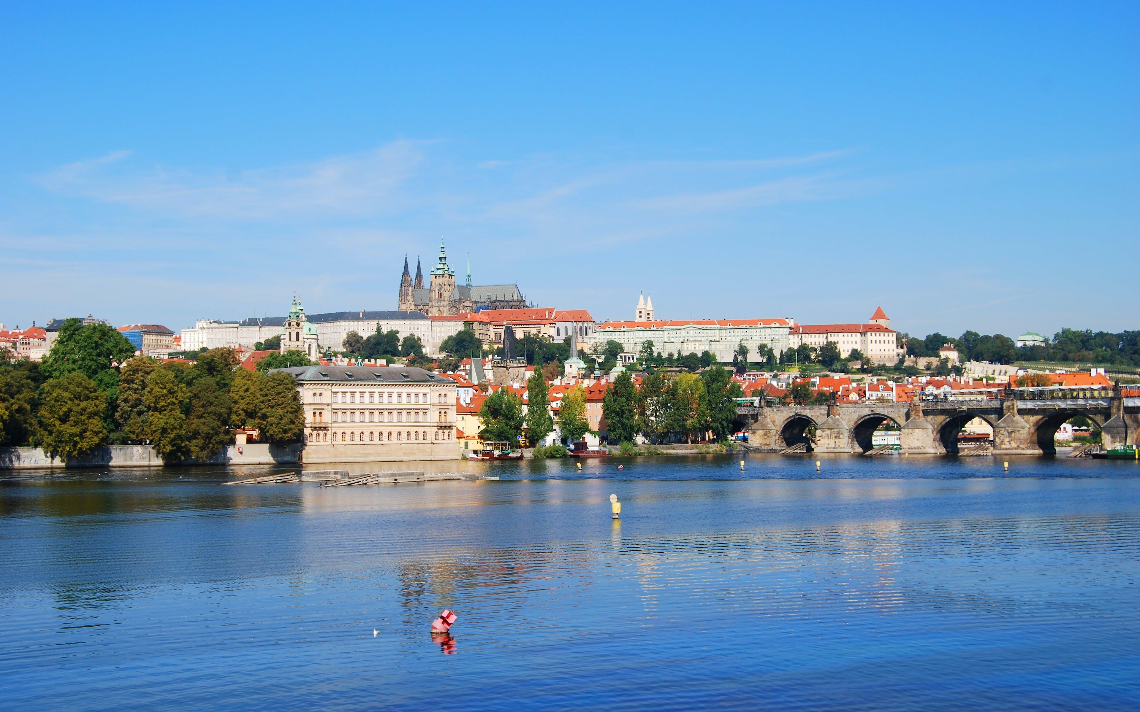 伏爾塔瓦河, 城堡, 城市, 城鎮 的 免費圖庫相片