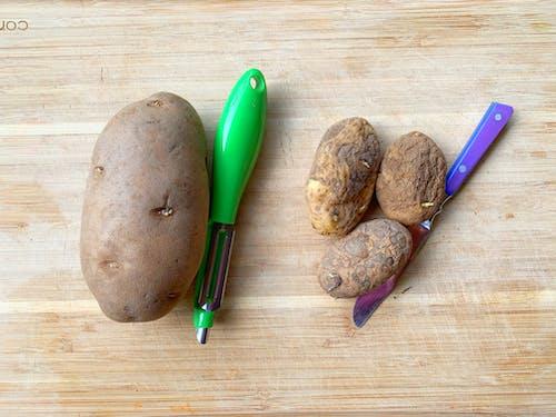 Free stock photo of food, potato, potato peeler