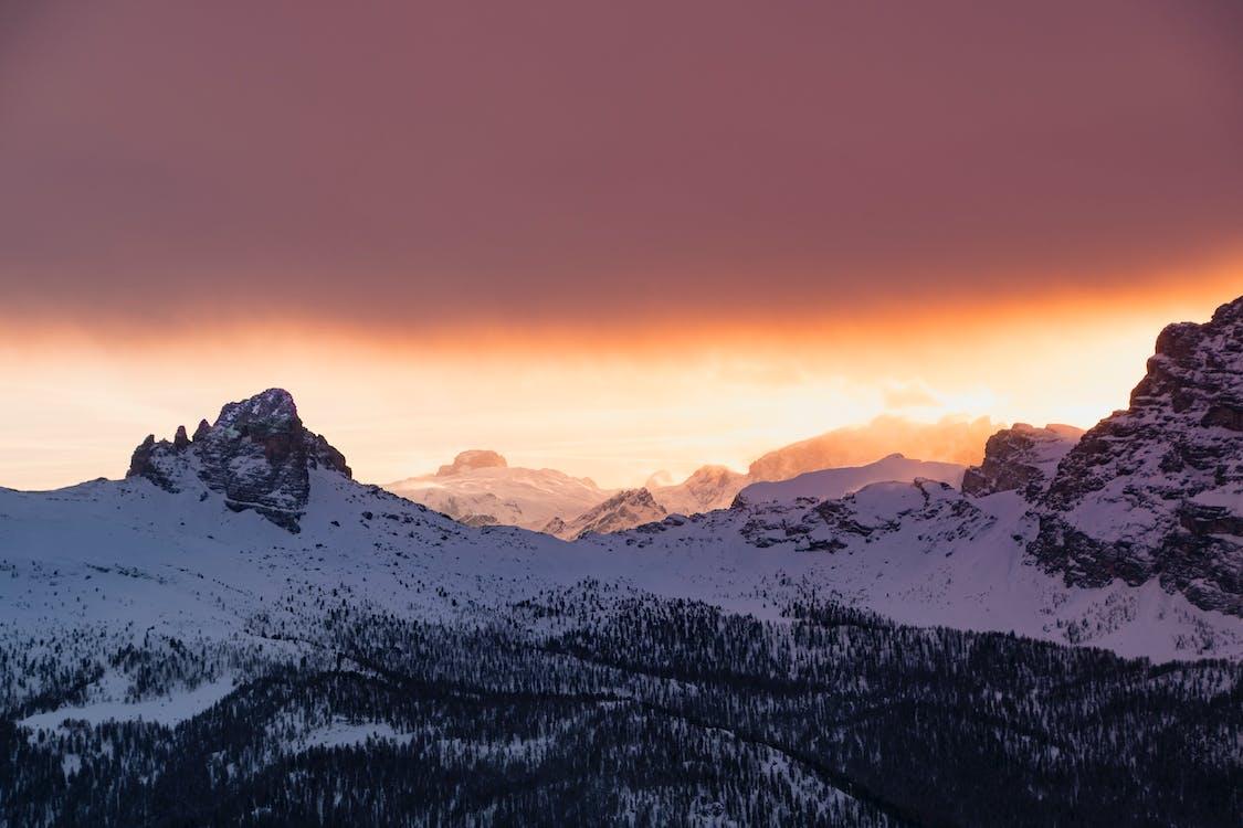 daggry, dagslys, fjell