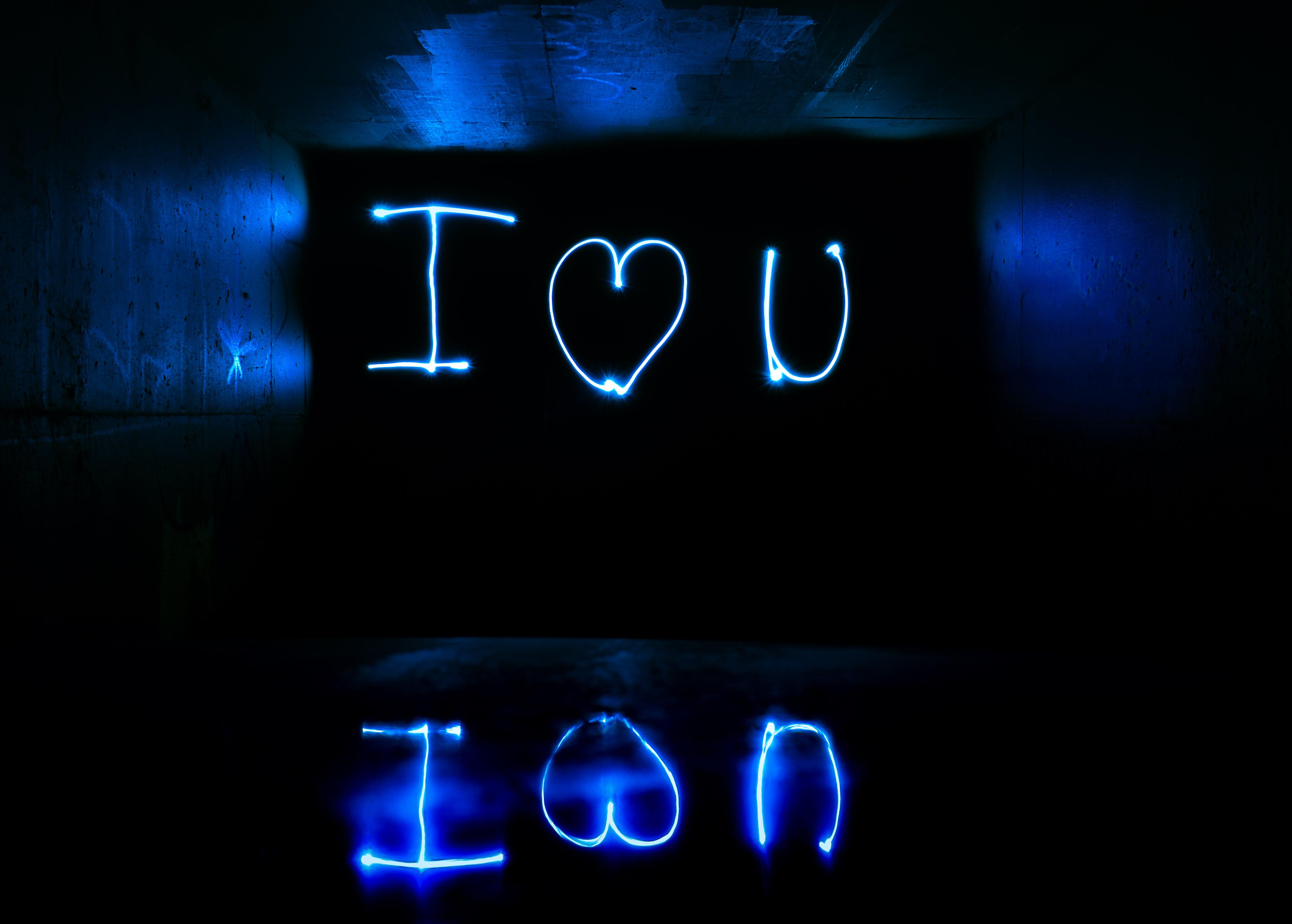 I Love You Light Streaks