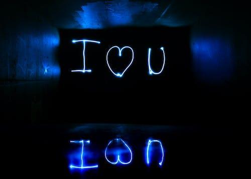 Foto stok gratis Aku cinta kamu, bawah tanah, cahaya, cinta