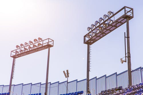 Two Football Stadium Lights