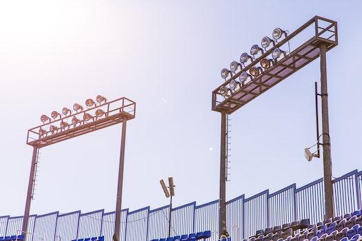 Two Football Stadium Lights