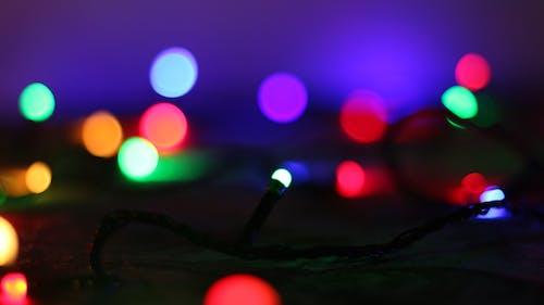 Free stock photo of garland, light glare, new year
