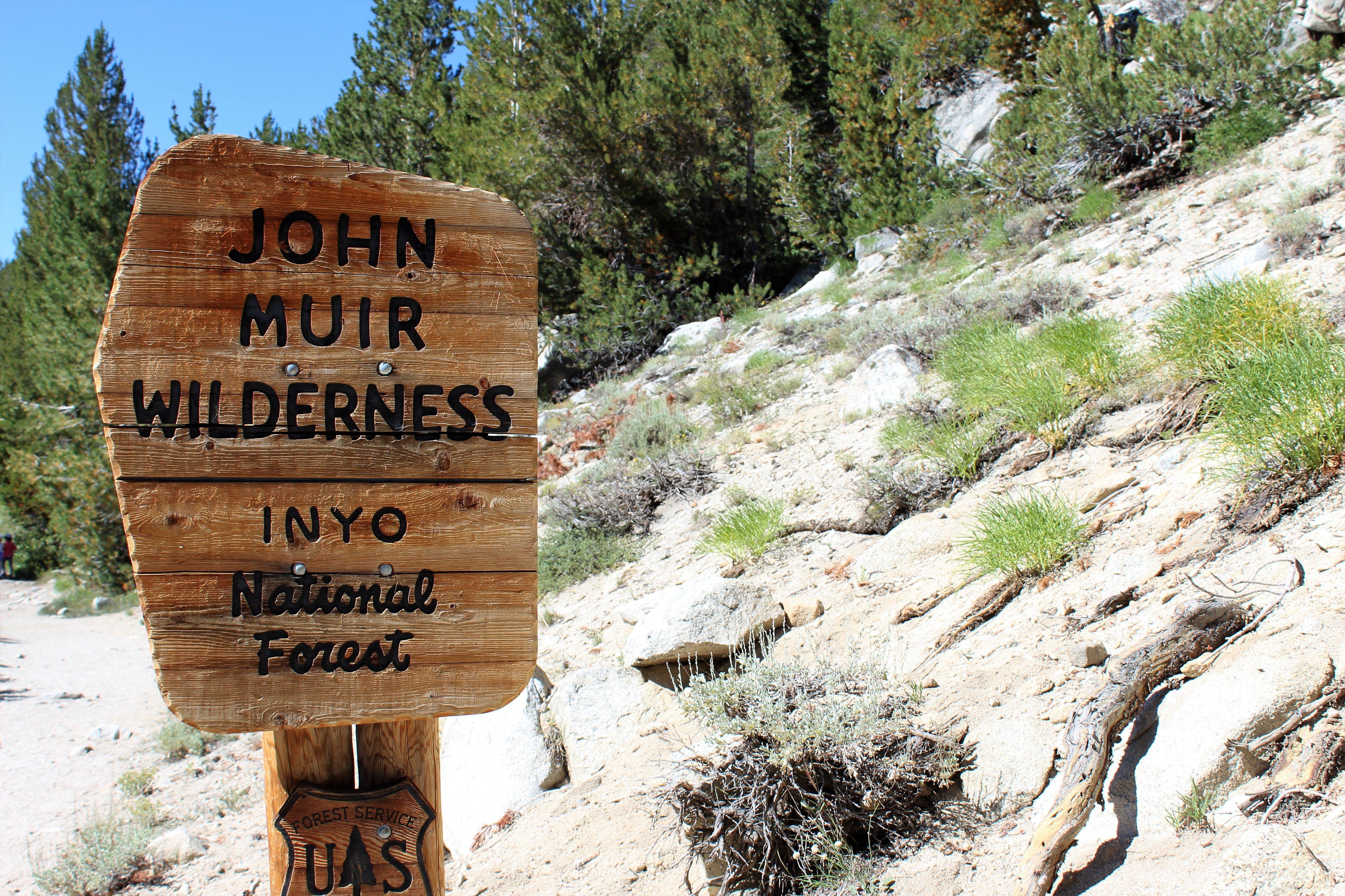 John Muir Wilderness Signage