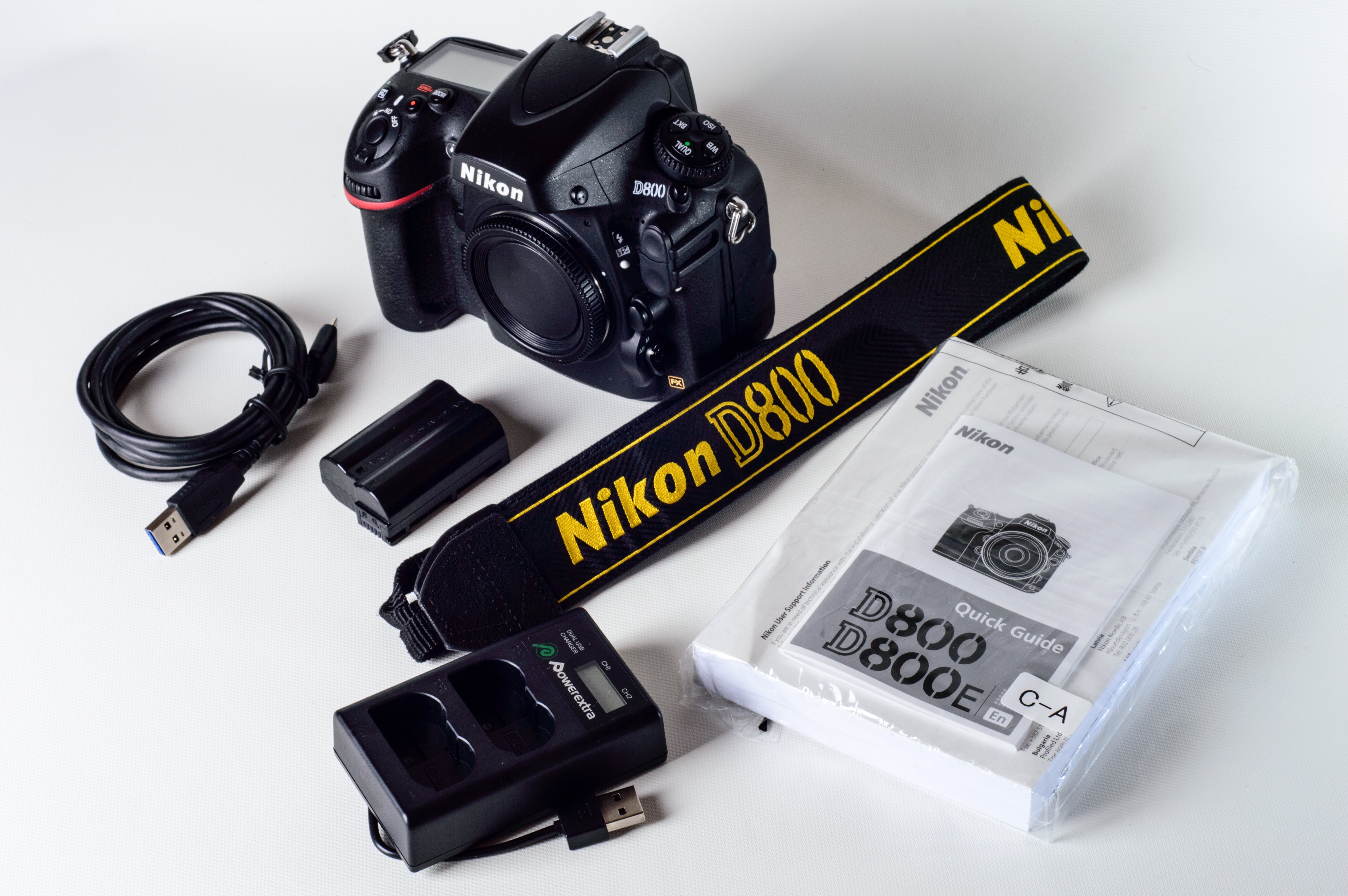 Nikon D800 With Lanyard And Battery Charger