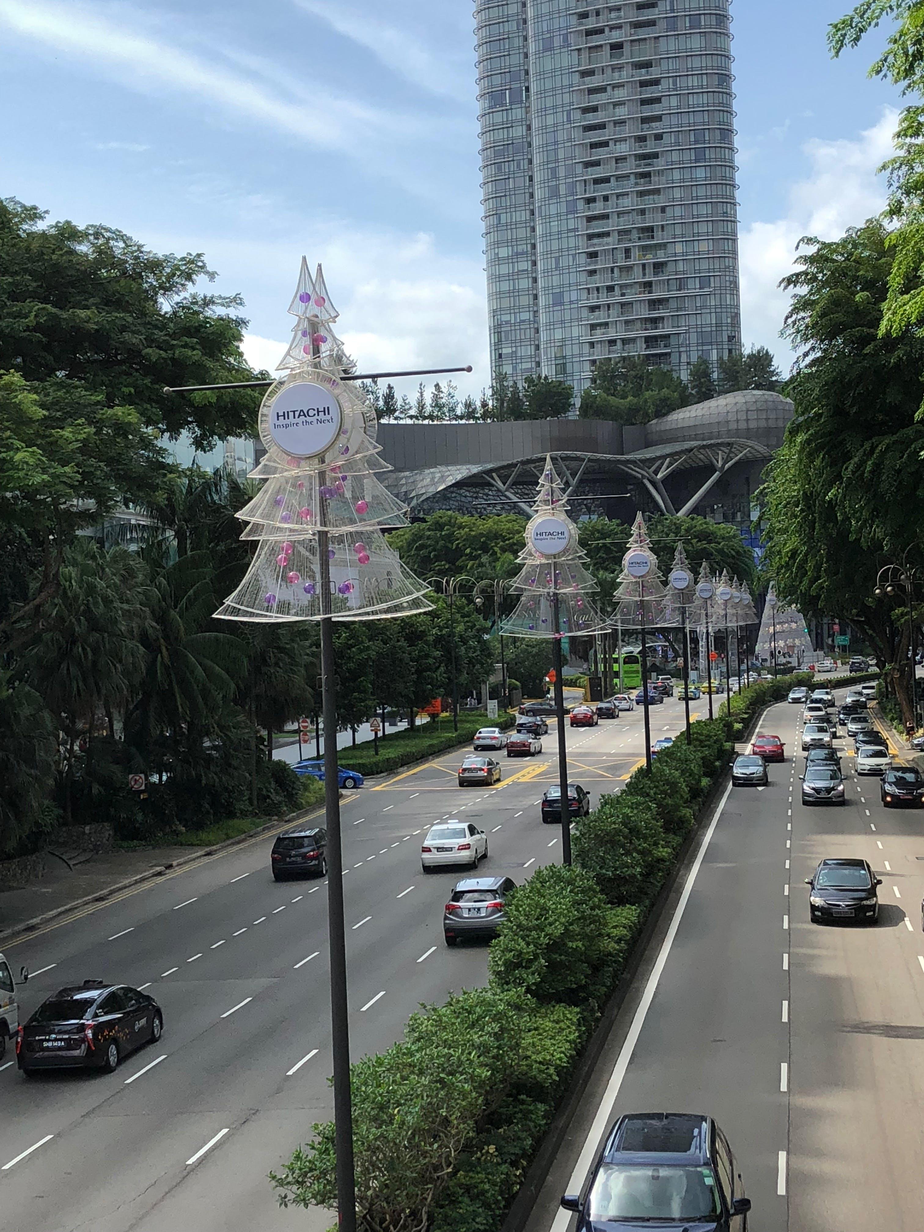 Free stock photo of christmas, decorations, singapore, Street decorations