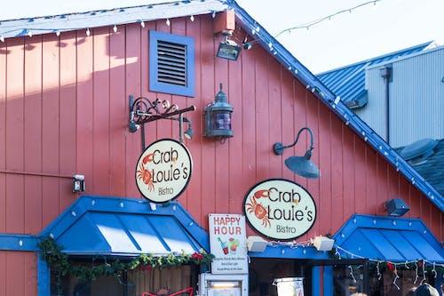 Gratis arkivbilde med krabbehytte, red building, restaurant