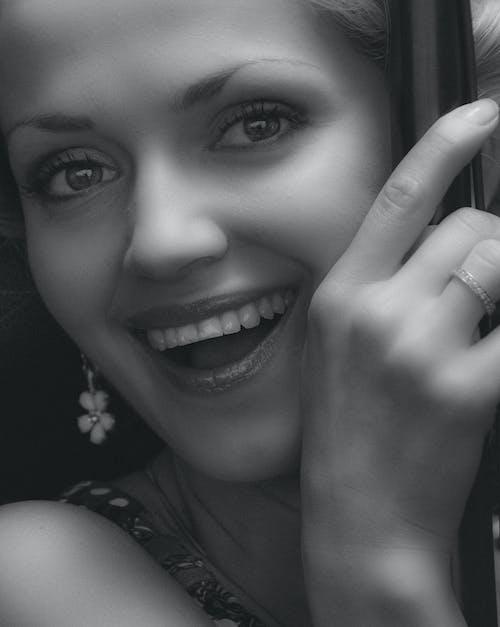 Imagine de stoc gratuită din adorabil, alb-negru, buze