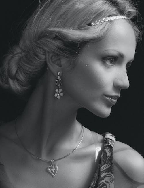 Imagine de stoc gratuită din alb-negru, bijuterie, buze