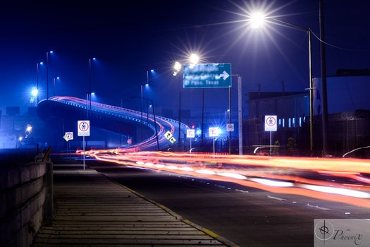 Free stock photo of theme light, car light-trails