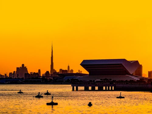 Free stock photo of Beautiful sunset, black, burj khalifa