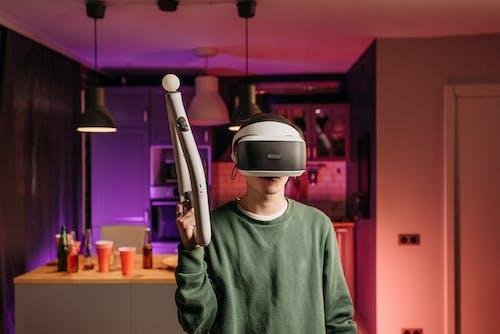 vr瞄準控制器, 人, 打電動遊戲 的 免費圖庫相片