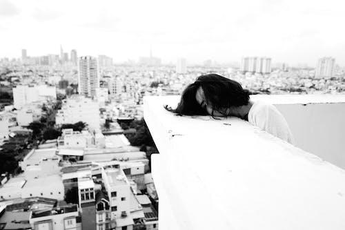 bw, うつ病, カバーフェイスの無料の写真素材