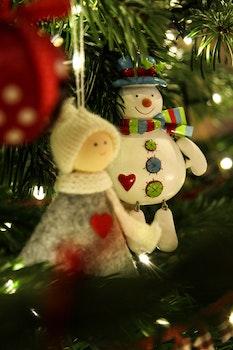 Free stock photo of lights, night, angel, christmas tree