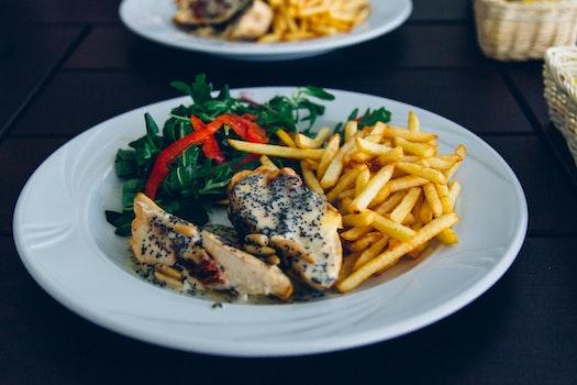 Free stock photo of food, plate, salad, restaurant