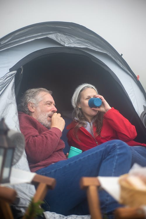 Free stock photo of camping, couple, elderly