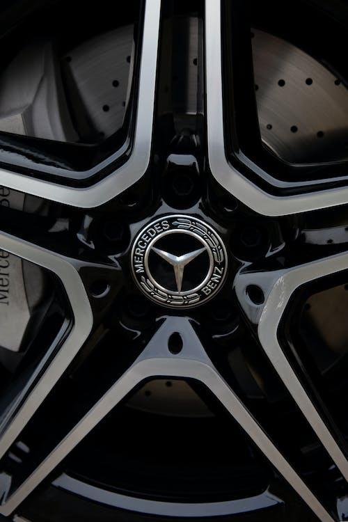 Rim of luxury wheel of expensive new auto