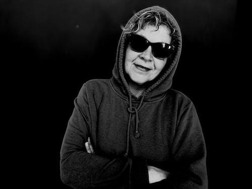 Free stock photo of hoodie, portrait, sunglasses
