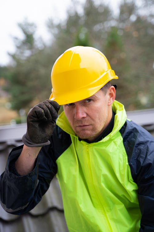 Free stock photo of adult, construction worker, expression