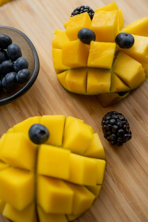 Mango with Berries on Top