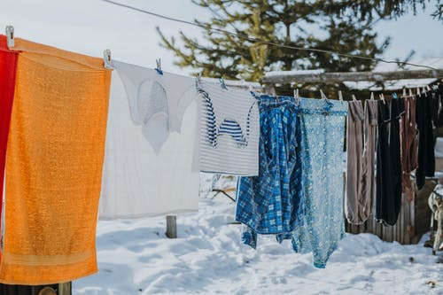 Drying Clothes on a Clothesline