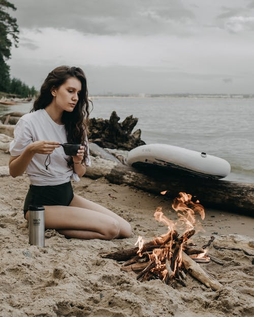Foto stok gratis air, alam, api unggun
