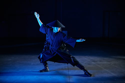 Man in Blue Academic Dress
