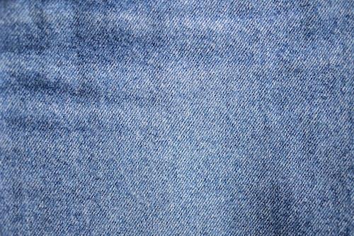 Blue and White Denim Textile