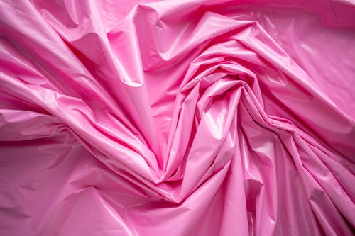 Close-Up Shot of a Wrinkled Pink Fabric