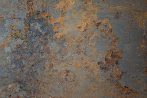 Blue and Brown Concrete Floor