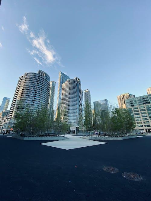 City Buildings Under Blue Sky