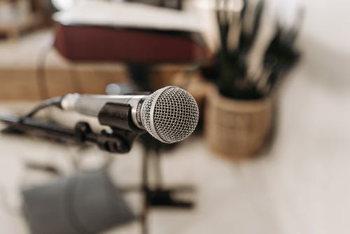 Close-Up Photo Of A Microphone