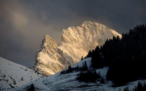 Free stock photo of evening light, mountain range, snow capped mountains