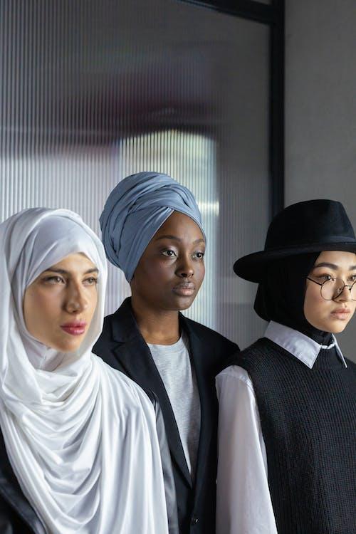Women Wearing Hijab and Turban